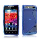 Coque Motorola Droid Razr XT910 S-Line Silicone Gel Housse - Bleu