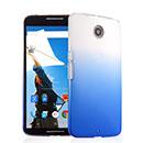 Coque Motorola Google Nexus 6 Degrade Etui Rigide - Bleu