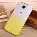 Coque Motorola Google Nexus 6 Degrade Etui Rigide - Jaune