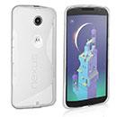 Coque Motorola Google Nexus 6 S-Line Silicone Gel Housse - Blanche