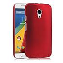 Coque Motorola Moto G 2 Plastique Etui Rigide - Rouge