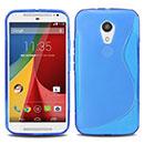Coque Motorola Moto G 2 S-Line Silicone Gel Housse - Bleu
