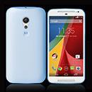 Coque Motorola Moto G 2 Silicone Transparent Housse - Bleue Ciel