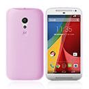 Coque Motorola Moto G 2 Silicone Transparent Housse - Rose