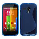 Coque Motorola Moto G S-Line Silicone Gel Housse - Bleu