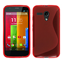 Coque Motorola Moto G S-Line Silicone Gel Housse - Rouge