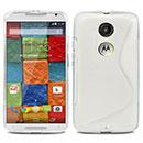 Coque Motorola Moto X 2 S-Line Silicone Gel Housse - Blanche
