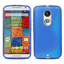 Coque Motorola Moto X 2 S-Line Silicone Gel Housse - Bleu