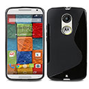 Coque Motorola Moto X 2 S-Line Silicone Gel Housse - Noire