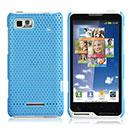 Coque Motorola Motoluxe XT615 Filet Plastique Etui Rigide - Bleue Ciel