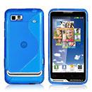 Coque Motorola Motoluxe XT615 S-Line Silicone Gel Housse - Bleue Ciel