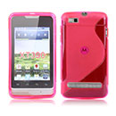 Coque Motorola MotoSmart XT389 XT390 S-Line Silicone Gel Housse - Rose Chaud