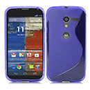 Coque Motorola X Phone XFON S-Line Silicone Gel Housse - Bleu