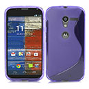 Coque Motorola X Phone XFON S-Line Silicone Gel Housse - Pourpre