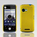 Coque Motorola XT502 Filet Plastique Etui Rigide - Jaune