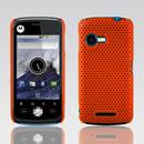 Coque Motorola XT502 Filet Plastique Etui Rigide - Orange