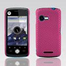 Coque Motorola XT502 Filet Plastique Etui Rigide - Rose Chaud