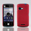 Coque Motorola XT502 Filet Plastique Etui Rigide - Rouge
