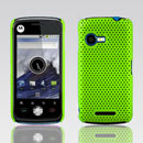 Coque Motorola XT502 Filet Plastique Etui Rigide - Verte
