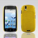 Coque Motorola XT800 Filet Plastique Etui Rigide - Jaune