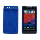 Coque Motorola XT910 Filet Plastique Etui Rigide - Bleu