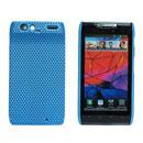 Coque Motorola XT910 Filet Plastique Etui Rigide - Bleue Ciel