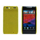 Coque Motorola XT910 Filet Plastique Etui Rigide - Jaune