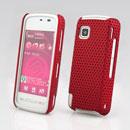 Coque Nokia 5230 Filet Plastique Etui Rigide - Rouge