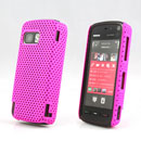 Coque Nokia 5800 Filet Plastique Etui Rigide - Rose Chaud