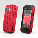 Coque Nokia 5800 Filet Plastique Etui Rigide - Rouge