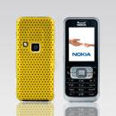 Coque Nokia 6120 Filet Plastique Etui Rigide - Jaune