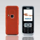 Coque Nokia 6120 Filet Plastique Etui Rigide - Orange