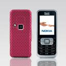 Coque Nokia 6120 Filet Plastique Etui Rigide - Rose Chaud