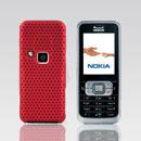 Coque Nokia 6120 Filet Plastique Etui Rigide - Rouge
