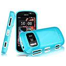 Coque Nokia 808 Pureview Silicone Gel Housse - Bleu