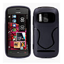 Coque Nokia 808 S-Line Silicone Gel Housse - Noire