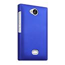 Coque Nokia Asha 503 Plastique Etui Rigide - Bleu