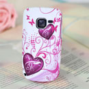 Coque Nokia C3-00 Amour Silicone Housse Gel - Pourpre