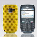 Coque Nokia C3-00 Filet Plastique Etui Rigide - Jaune