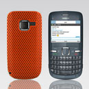 Coque Nokia C3-00 Filet Plastique Etui Rigide - Orange