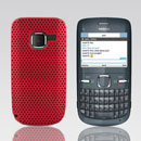 Coque Nokia C3-00 Filet Plastique Etui Rigide - Rouge