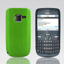 Coque Nokia C3-00 Filet Plastique Etui Rigide - Verte