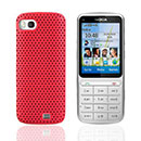 Coque Nokia C3-01 Filet Plastique Etui Rigide - Rouge