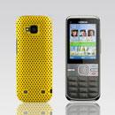 Coque Nokia C5-00 Filet Plastique Etui Rigide - Jaune
