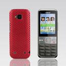 Coque Nokia C5-00 Filet Plastique Etui Rigide - Rouge