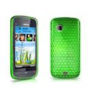 Coque Nokia C5-03 Diamant Silicone Gel Housse - Verte