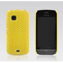 Coque Nokia C5-03 Filet Plastique Etui Rigide - Jaune