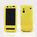 Coque Nokia C6-00 Filet Plastique Etui Rigide - Jaune