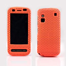 Coque Nokia C6-00 Filet Plastique Etui Rigide - Orange