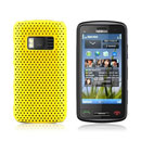 Coque Nokia C6-01 Filet Plastique Etui Rigide - Jaune
